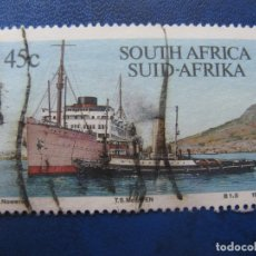 Timbres: -AFRICA DEL SUR 1994, SELLO USADO, TEMA BARCOS. Lote 177481368