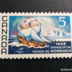 Sellos: CANADA Nº YVERT 403*** AÑO 1968. TRICENTENARIO DEL VIAJE DEL NONSUCH. Lote 181437756