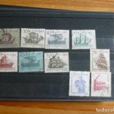 Selos: 10 SELLOS DE BARCOS DE POLONIA. Lote 182015352