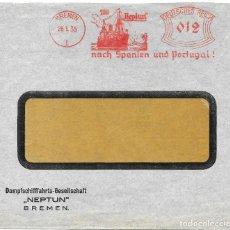 Sellos: ALEMANIA IMPERIO PAQUEBOTE NEPTUNO LINEA PARA ESPAÑA Y PORTUGAL CURIOSA CARTA CIRCULA EN 1935. Lote 190542983