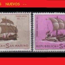 Sellos: LOTE SELLOS NUEVOS - SAN MARINO - BARCOS - AHORRA GASTOS COMPRA MAS SELLOS. Lote 191654511