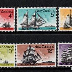 Sellos: NUEVA ZELANDA 629/34** - AÑO 1975 - BARCOS - VELEROS. Lote 210065636