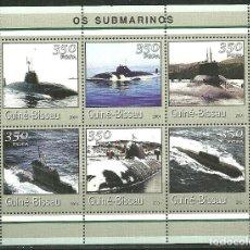 Sellos: GUINEA BISSAU 2001 IVERT 1031ED/31EJ *** SUBMARINOS -BARCOS. Lote 192461343