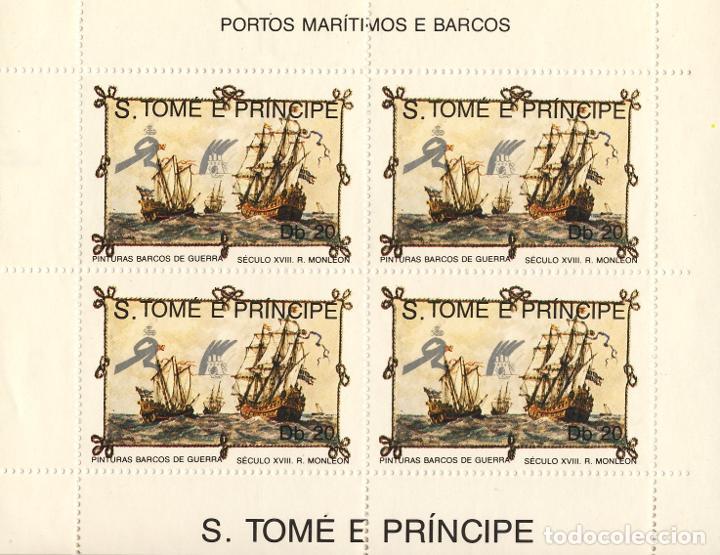 SANTO TOME & PRINCIPE. BARCOS II (Sellos - Temáticas - Barcos)