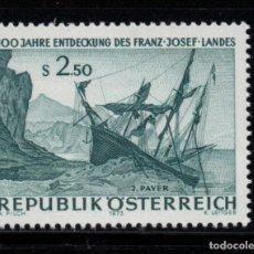 Sellos: AUSTRIA 1250** - AÑO 1973 - BARCOS - CENTENARIO DEL DECUBRIMIENTO DE LA TIERRA DE FRANCISCO JOSE. Lote 194599342