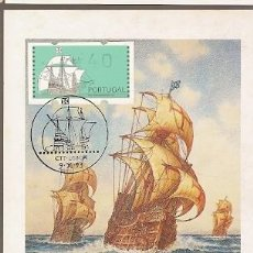 Sellos: PORTUGAL & MAXI, DESCOBERTAS, CARABELA PORTUGUESA, EDICIÓN DEL MUSEO DE LA MARINA, LISBOA 1993 (7075. Lote 195020792