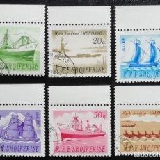 Sellos: 1965. BARCOS. ALBANIA. 825 / 830. BARCOS: MERCANTE, VELEROS ANTIGUOS, ETC. SERIE COMPLETA. NUEVO.. Lote 195216582