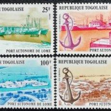 Sellos: 1978. BARCOS. TOGO. 920 + A 342 / A 344. PUERTO DE LOMÉ. ANCLA. SERIE COMPLETA. NUEVO.. Lote 195308982