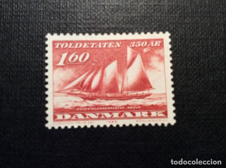 DINAMARCA Nº YVERT 750*** AÑO 1982. BARCO ARGUS. 350 ANIVERSARIO SERVICIO DE ADUANAS (Sellos - Temáticas - Barcos)