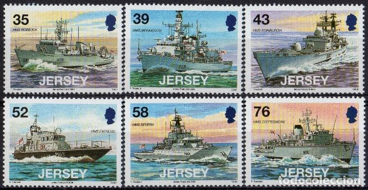 JERSEY 2008 IVERT 1414/19 *** BARCOS MILITARES (II) (Sellos - Temáticas - Barcos)