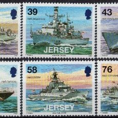 Sellos: JERSEY 2008 IVERT 1414/19 *** BARCOS MILITARES (II). Lote 196517352