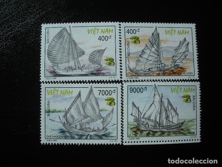 VIETNAM 1999 IVERT 1807/10 *** BARCOS VELEROS ASIATICOS - JUNCOS DE CUA LOO (Sellos - Temáticas - Barcos)