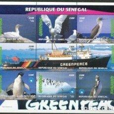 Sellos: SELLOS SENEGAL 2000 GREENPEACE BARCO AVES. Lote 199317917