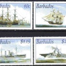 Sellos: SELLOS BARBADOS 2003 BARCOS. Lote 201105086