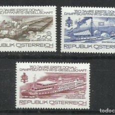 Sellos: 221 - AUSTRIA SERIE COMPLETA BARCOS NUEVO MNH** 1979 Nº 1430/2. Lote 202530282