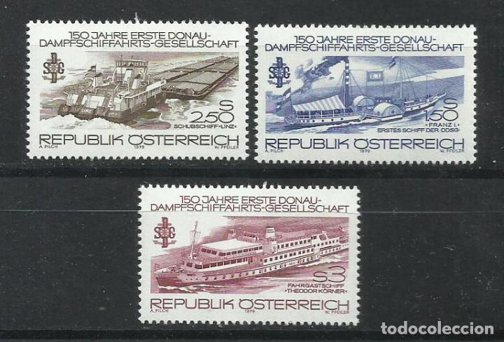 221A - AUSTRIA SERIE COMPLETA BARCOS NUEVO MNH** 1979 Nº 1430/2 (Sellos - Temáticas - Barcos)