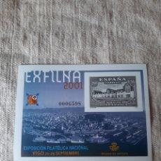 Sellos: 2001 VIGO ESPAÑA EXFILMA PUERTO FRANCO EXPOSICIÓN FILATÉLICA EDIFIL NÚMERO 75 PVP 12 EUROS. Lote 205162645