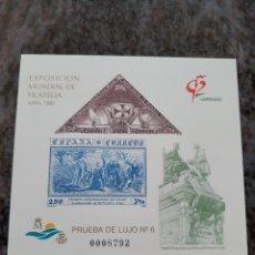 Sellos: BARCOS CRISTÓBAL COLÓN EXPOSICIÓN MUNDIAL FILATELIA PRUEBA LUJO 6 EDIFIL 25. Lote 205246142