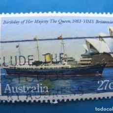 Timbres: +AUSTRALIA 1983, YATE REAL BRITANNIA, YVERT 821. Lote 205307382