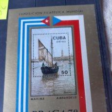 Sellos: CUBA HOJA BLOQUE 1978 N 54 MANCHITAS. Lote 205379427