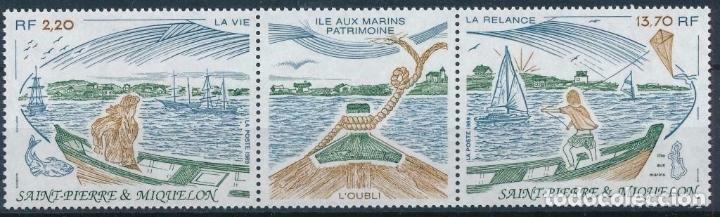 SAN PIERRE Y MIQUELON 1989 IVERT 508/9A *** PATRIMONIO NATURAL DE LAS ISLAS - BARCOS DE PESCA (Sellos - Temáticas - Barcos)