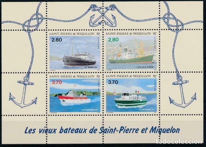 SAN PIERRE Y MIQUELON 1994 IVERT 599/602 *** BARCOS ANTIGUOS DE LAS ISLAS (Sellos - Temáticas - Barcos)