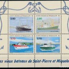 Sellos: SAN PIERRE Y MIQUELON 1994 IVERT 599/602 *** BARCOS ANTIGUOS DE LAS ISLAS. Lote 207523261