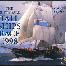 Sellos: IRLANDA 1998 THE CUTTY SARK TALL SHIPS RACE CARNET. Lote 211565540