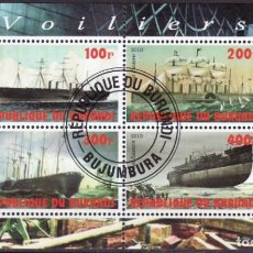 Sellos: BURUNDI 2010 HOJA BLOQUE SELLOS BARCOS LEGENDARIOS - BOATS- VOILIERS - BARCO - GREAT EASTERN. Lote 212519653