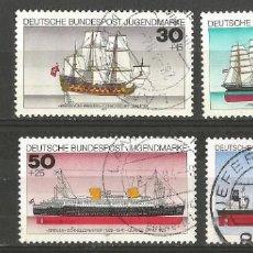 Sellos: ALEMANIA - FEDERAL - 1977 - BARCOS - UNA SERIE DE 4 SELLOS CON VELEROS COMPLETO - USADOS - MI 929/32. Lote 213273683