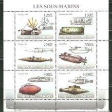 Sellos: COMORES 2008 IVERT 1237/42 *** LOS PRIMEROS SUBMARINOS - BARCOS. Lote 215539975