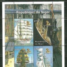 Sellos: NIGER 1998 *** HISTORIA DE LA NAVEGACIÓN EN EL SIGLO 20 - BARCOS VELEROS. Lote 215541370