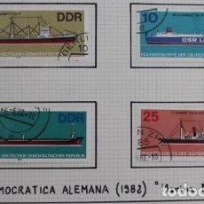 Sellos: 4 SELLOS BARCOS MARINA MERCANTE DDR 1982. Lote 173911889