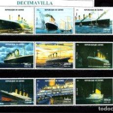 Sellos: GUINEA, R.M.S. TITANIC, 1998, 1412/20, TRBA069, DELC005. Lote 218769840