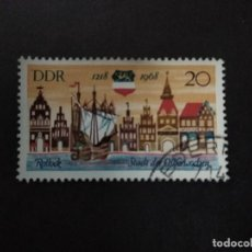 Selos: ALEMANIA DDR 1968. ROSTOCK - HISTORICAL TOWN VIEW. YT:DD 1080,. Lote 219659670