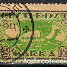 Sellos: ESTONIA Nº 28 B (AÑO 1919), DRAKKAR VIKINGO, USADO. Lote 219730516