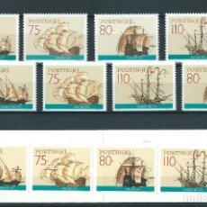 Sellos: SELLOS PORTUGAL 1991 NAVIOS DE LOS DESCUBRIMIENTOS BARCOS. Lote 219755688