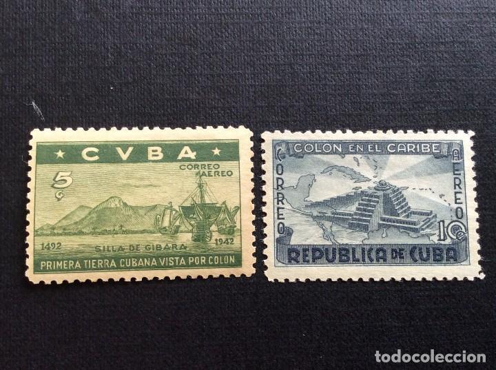 CUBA Nº YVERT A-35/6*** AÑO 1944. 450 ANIVERSARIO DESCUBRIMIENTO DE AMERICA. (Sellos - Temáticas - Barcos)