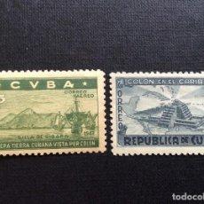 Sellos: CUBA Nº YVERT A-35/6*** AÑO 1944. 450 ANIVERSARIO DESCUBRIMIENTO DE AMERICA.. Lote 220299392
