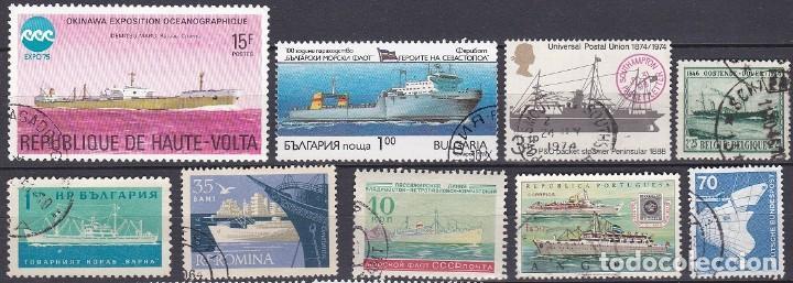 LOTE DE SELLOS - MARINA - BARCOS - BUQUES - VELEROS (AHORRA EN PORTES, COMPRA MAS) (Sellos - Temáticas - Barcos)