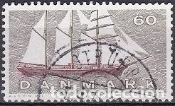LOTE DE SELLOS - DINAMARCA - MARINA - BARCOS - BUQUES - VELEROS (AHORRA EN PORTES, COMPRA MAS) (Sellos - Temáticas - Barcos)