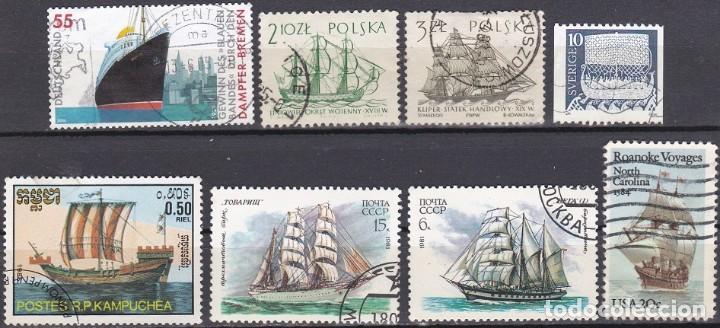 LOTE DE SELLOS - BARCOS - BUQUES - VELEROS - (AHORRA EN PORTES, COMPRA MAS) (Sellos - Temáticas - Barcos)