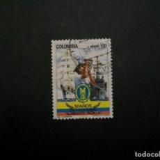 Sellos: /24.10/-COLOMBIA-1985-CORREO AEREO 20 P. Y&T 739 SERIE COMPLETA EN USADO/º/. Lote 222123743