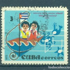 Sellos: 1784-2 CUBA 1972 U CHILDREN'S SONG COMPETITION. Lote 226313090