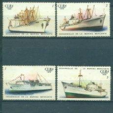 Sellos: 2166-3 CUBA 1976 MNH THE DEVELOPMENT OF CUBAN MERCHANT MARINE. Lote 228166280