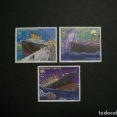 Sellos: /03.12/-SOMALIA-1998-Y&T 628/30 SERIE COMPLETA EN NUEVO(**MNH) A 10%-TITANIC/1912/. Lote 228236560