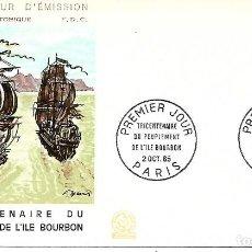 Sellos: ISLA DE BOURBON (BARCO). SPD. FRANCIA 1965. Lote 230897305