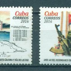 Sellos: 6161 CUBA 2016 MNH THE 60TH ANNIVERSARY OF THE RETURN OF CASTRO TO CUBA. Lote 231283925