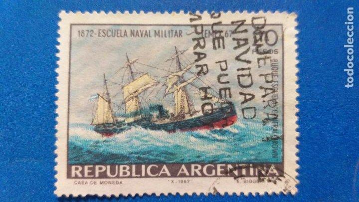 USADO. ARGENTINA. YVERT 801. AÑO 1967. BARCOS. 95º ANIVERSARIO DE LA ESCUELA NAVAL MILITAR (Sellos - Temáticas - Barcos)
