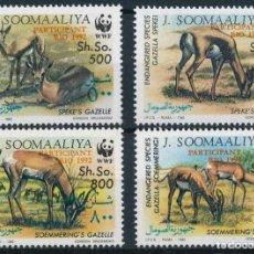 Sellos: SOMALIA 1992 IVERT 390/3 *** FAUNA - PROTECCIÓN DE LA NATURALEZA - GACELAS. Lote 236340095